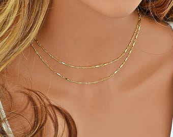 Layered Gold Choker Necklace, Chain Choker, Gold Choker Necklace, Layered Choker, Layered Necklace Silver, Delicate Choker Necklace