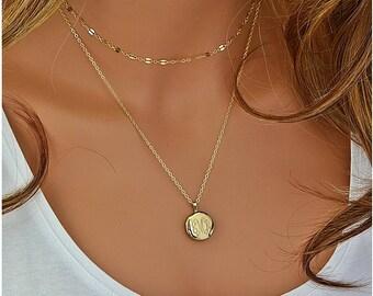 Locket Necklace, Monogram Locket, Personalized Locket Necklace, Mother Necklace, Gift For Mom, 14k Gold Filled, Sterling Silver Locket