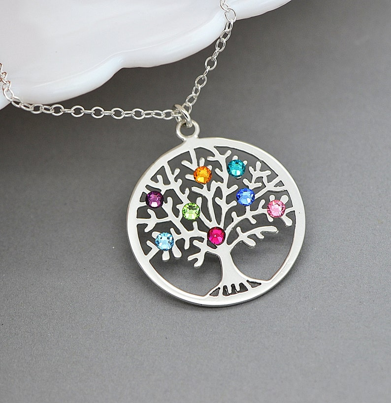 Tree Of Life Necklace Sterling Silver Family Tree Necklace image 0