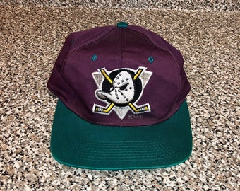 1a7742e0293ea Vintage 1993 Anaheim Mighty Ducks Snapback Hat champions stanley cup champs  disney jean-sebastien giguere conway goldberg banks jersey nhl