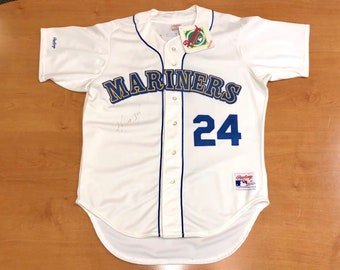 ed87db27d Vintage 1989 Ken Griffey Jr Seattle Mariners Authentic Jersey Size 46 alex  rodriguez edgar martinez harold reynolds felix hernadez russell