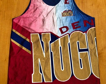 94efaa0d1 Vintage 1994 - 1996 Denver Nuggets Reversible Starter Jersey Size L  champion kenneth faried dikembe mutombo kiki vandeweghe carmelo anthony