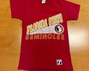 469e6e4d Vintage 80s Florida State Seminoles T-Shirt jersey fsu deion sanders warrick  dunn ward ncaa football basketball champions