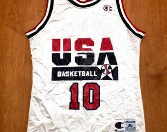 9fcf382fad4 Vintage 1992 Clyde Drexler Dream Team Champion Jersey Size 36 usa charles  barkley scottie pippen magic johnson michael jordan trailblazers