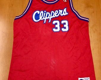 da9b6b311 Vintage 1995 - 1998 Los Angeles LA Clippers Champion Jersey Size 52 pooh  richardson dominique wilkins michael olowakandi quentin shirt hat