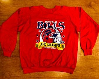 5fd4bcf16 Vintage 1988 Buffalo Bills Crewneck Sweatshirt jersey super bowl thurman  thomas xxv xxvi xxvii xxviii afc champs champions lesean mccoy