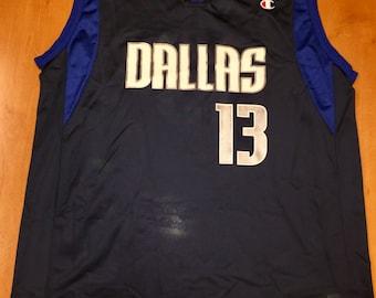 b9764283c Vintage 1990s Steve Nash Dallas Mavericks Champion Jersey Size 48 hat shirt  mavs rolando blackman cedric ceballos mark aguirre nba finals