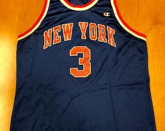 60f73fdf9 Vintage 1995 John Starks New York Knicks Champion Jersey Size 48 hat shirt  charles oakley nba finals penny hardaway latrell sprewell