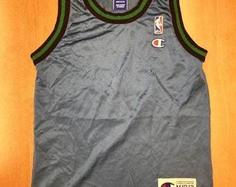 Vintage 1996 - 1998 Minnesota Wolves Blank Champion Jersey Size Youth M  stephon marbury latrell sprewell terrell brandon kids nba shirt hat 93b53c71e