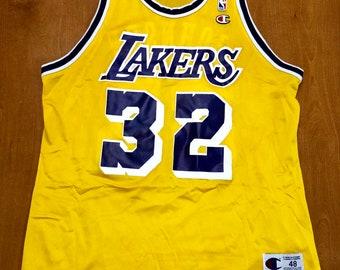 b79c1f7f758 Vintage 1996 Magic Johnson Los Angeles Lakers Champion Jersey Size 48  shaquille o neal nba finals nick van exel brandon ingram kyle kuzma