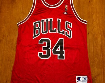 547bf6692 Vintage 1994 Bill Wennington Chicago Bulls Champion Jersey Size 48 nba  finals hat shirt scottie pippen michael jordan st.john s team canada