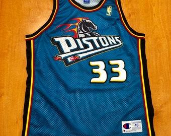 0c2d566867fc Vintage 1996 Grant Hill Detroit Pistons Champion Jersey Size 48 chauncey  billups tayshaun prince rasheed ben wallace nba finals hunter gold