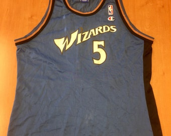 Vintage 1997 - 1998 Juwan Howard Washington Wizards Champion Jersey Size 48  michigan hat shirt bullets michael jordan rasheed wallace nba 819643399