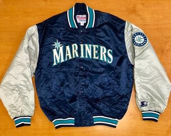 5a3fbcafc Vintage 1998 Seattle Mariners Starter Satin Jacket jersey ken griffey jr  alex rodriguez edgar martinez harold reynolds tino felix hernadez