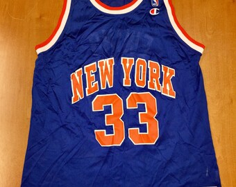 95c422617db Vintage 1994 - 1995 Patrick Ewing New York Knicks Champion Jersey Size 44  hat charles oakley nba finals penny hardaway latrell sprewell