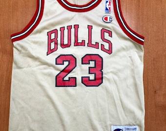 e52cd9522c0 Vintage 1998 Michael Jordan Chicago Bulls Champion Gold Jersey Size Youth  Medium nba finals hat shirt scottie pippen authentic air jumpman