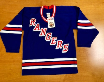 Vintage 1990s New York Rangers Jersey Size Youth XL Small stanley cup final  champions henrik lundqvist eddie giacomin john vanbiesbrouk 0654c2ddf