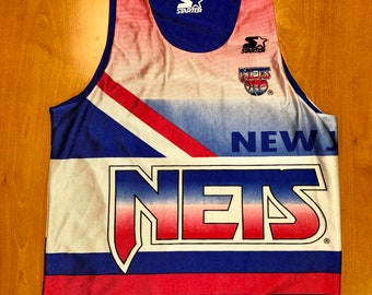 c7cf88965331 Vintage 1994 - 1995 New Jersey Nets Starter Size Medium brooklyn drazen  petrovic richard jefferson kenny anderson champion d angelo russell