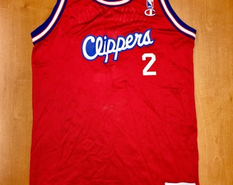 8dfe201a492 Vintage 1994 Pooh Richardson Los Angeles LA Clippers Champion Jersey Size  Youth XL dominique wilkins michael olowakandi quentin shirt hat