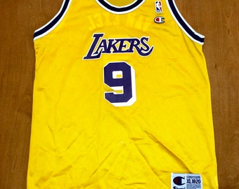 e78fca435a4d9 Vintage 1995 - 1998 Nick Van Exel Los Angeles Lakers Champion Jersey Size  Youth Extra-Large shaquille o neal magic johnson nba finals kids