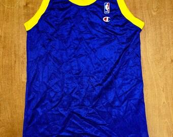 Vintage 1991 - 1992 Denver Nuggets Blank Champion Jersey Size 40 dikembe  mutombo kiki vandeweghe mahmoud abdul-rauf carmelo anthony nba 148156599
