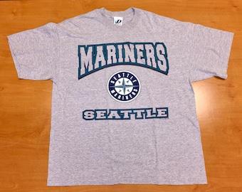 d3c9adb86 Vintage 1990s Seattle Mariners T-Shirt tee jersey ken griffey jr alex  rodriguez edgar martinez harold reynolds omar vizquel mlb tino