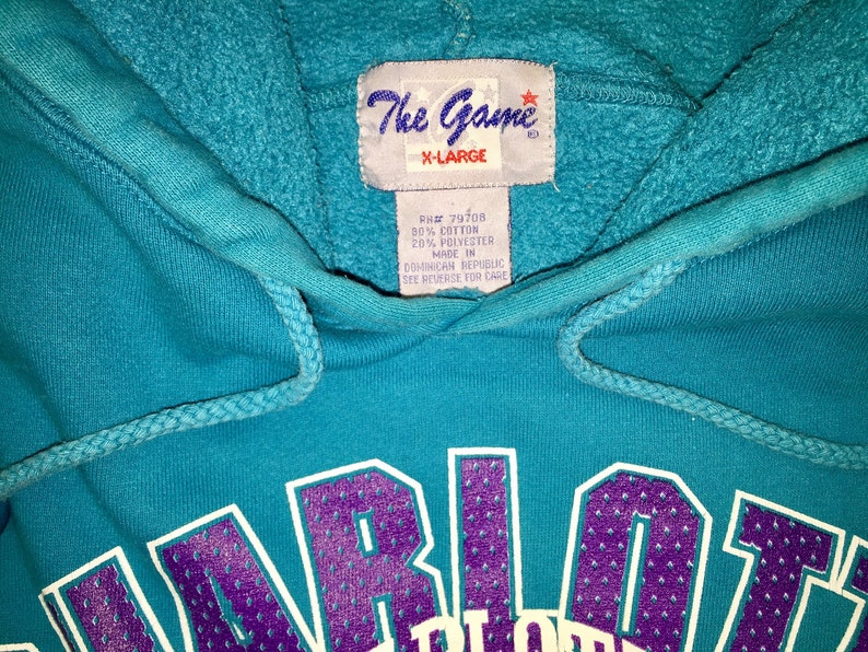 Vintage 1990s Charlotte Hornets The Game Sweatshirt Size XL  7bf2fd15f