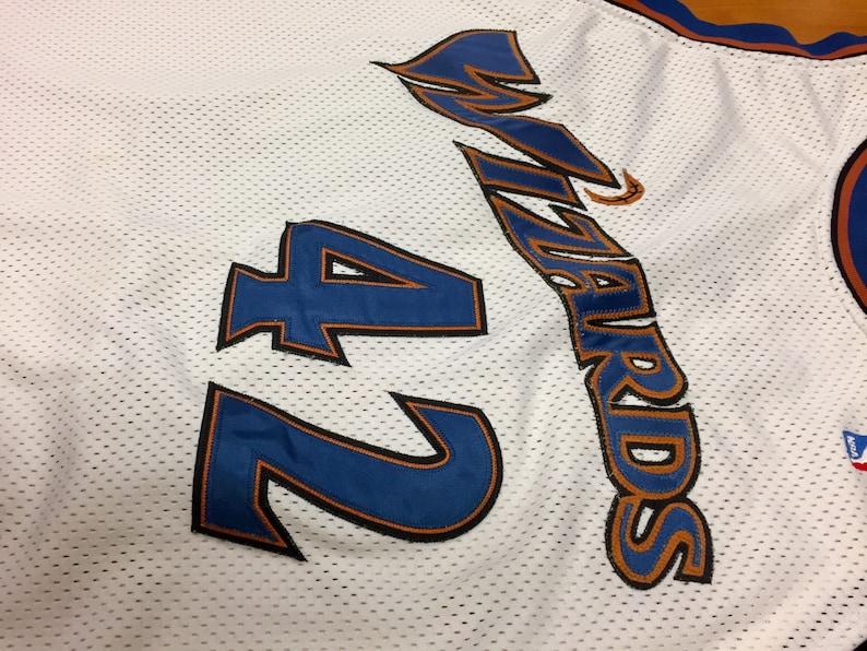 Vintage 1990s Jerry Stackhouse Washington Wizards Authentic  933eebd99