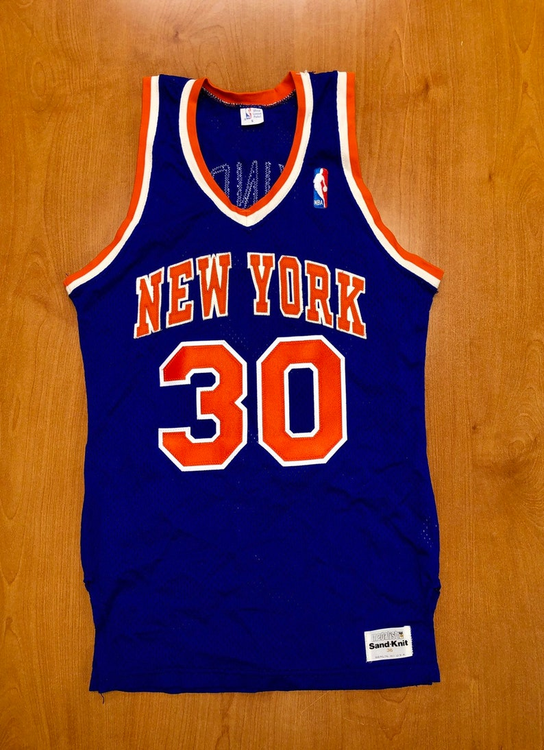 new products c4d50 52e46 Vintage 1982 - 1987 Bernard King New York Knicks Sand Knit Jersey Size 36  shirt charles oakley penny hardaway latrell sprewell 40 champion