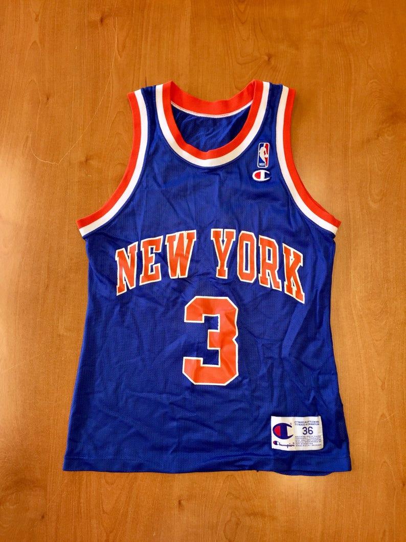 5c3596e3924e67 Vintage 1993 1994 John Starks New York Knicks Champion
