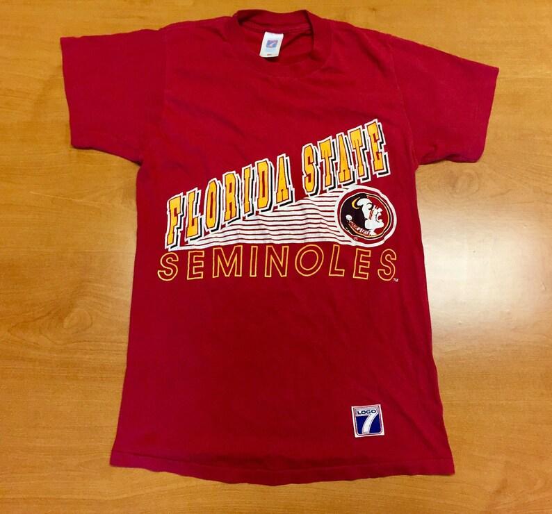huge selection of a16ed ef508 Vintage 80s Florida State Seminoles T-Shirt jersey fsu deion sanders  warrick dunn ward ncaa football basketball champions