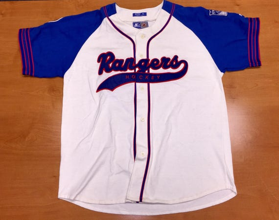 Vintage 1990s Rangers Starter Baseball Jersey stanley cup  ac8671b7b
