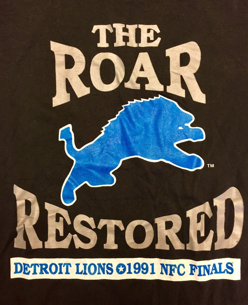 05080bf83ab Vintage 1991 Detroit Lions NFC Championship T-Shirt jersey | Etsy