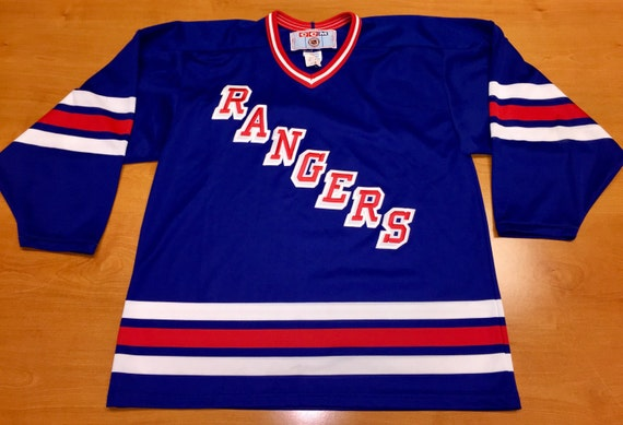 Vintage 90s New York Rangers Maska Jersey Size L stanley cup  63e75bb1f