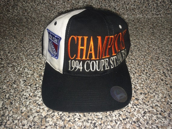Vintage 1994 Rangers Stanley Cup Champs Hat WRITTEN IN  54c4adf41e54