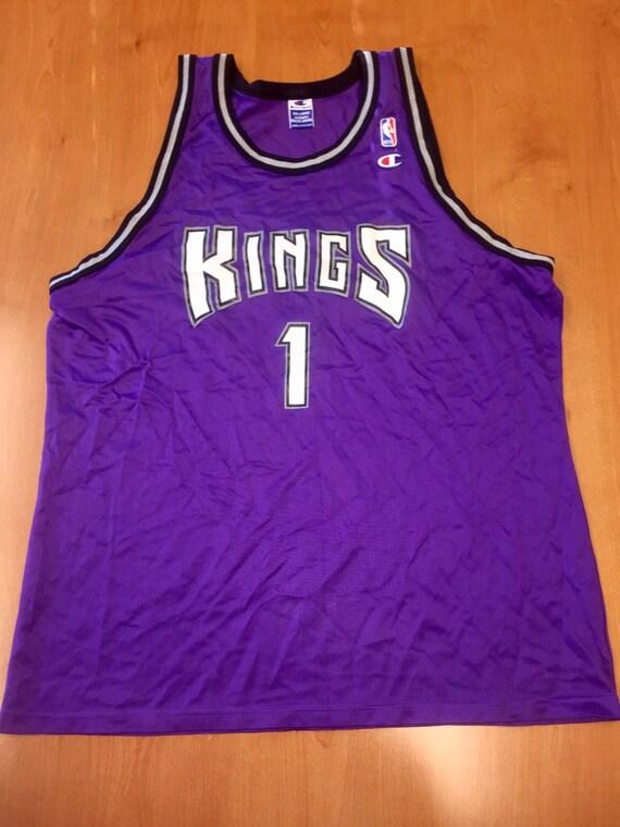 reputable site 86695 fdd45 Vintage 1995 - 1998 Sacramento Kings Draft Day Champion Jersey Size 52  jason williams mitch richmond wayman tisdale bobby hurley jackson nba
