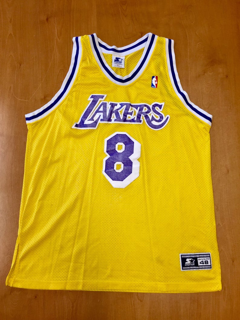 quality design 507c8 c182d Vintage 1997 Kobe Bryant Los Angeles LA Lakers Authentic Starter Jersey  Size 48 shaquille o'neal magic johnson champion nba finals hat shirt
