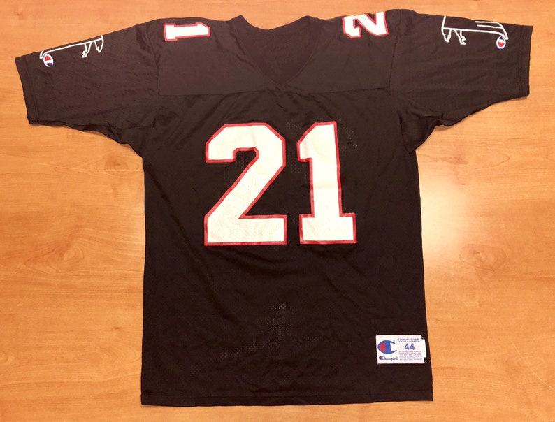 quality design 97f6e 84161 Vintage 1991 - 1993 Deion Sanders Atlanta Falcons Champion Jersey Size 44  braves reds nfl san francisco 49ers dallas cowboys jamal anderson