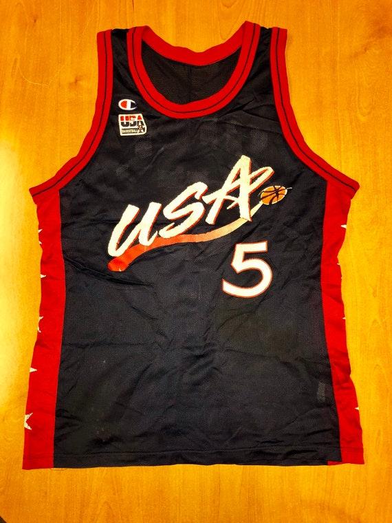 Vintage 1996 Grant Hill Dream Team Champion Jersey Size 48 usa  3e0351aff
