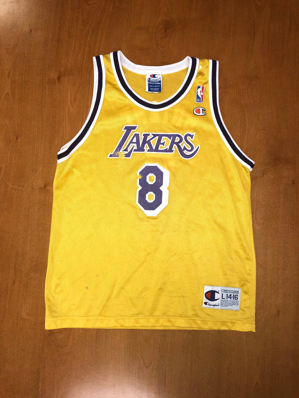 Vintage 1996 Kobe Bryant LA Lakers Champion Jersey Size Youth ...