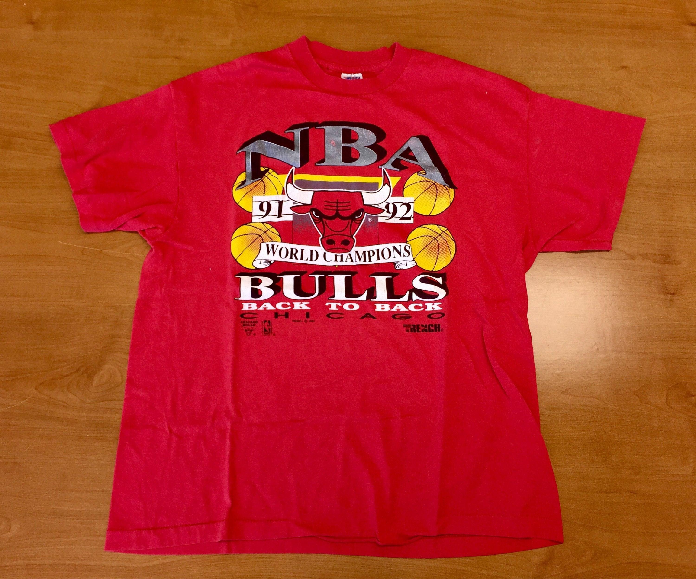 7e3f2cd14da Vintage 90s Chicago Bulls Champs T-Shirt tee champions nba