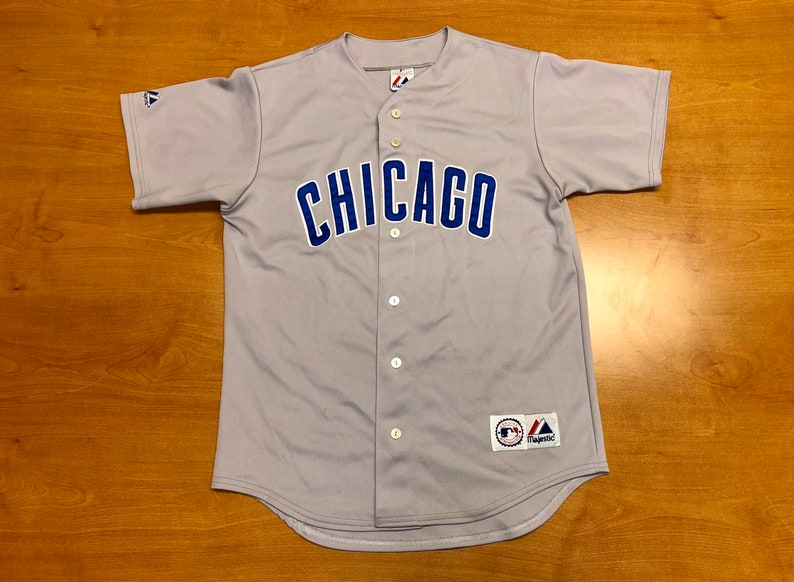 hot sales ba167 98e98 Vintage 1990s Chicago Cubs Majestic Jersey Size L russell mlb carlos  zambrano shawon dunston moises alou world series david ross ernie banks