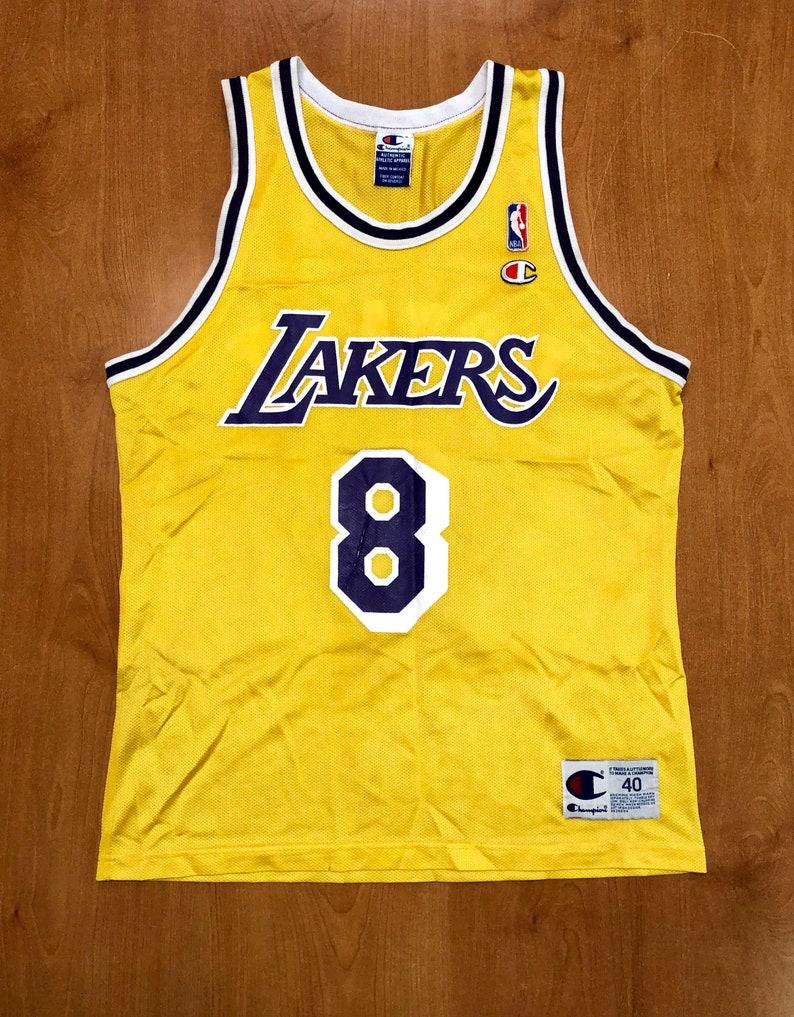 sale retailer 1bf97 041ec Vintage 1996 Kobe Bryant LA Lakers Champion Jersey Size 40