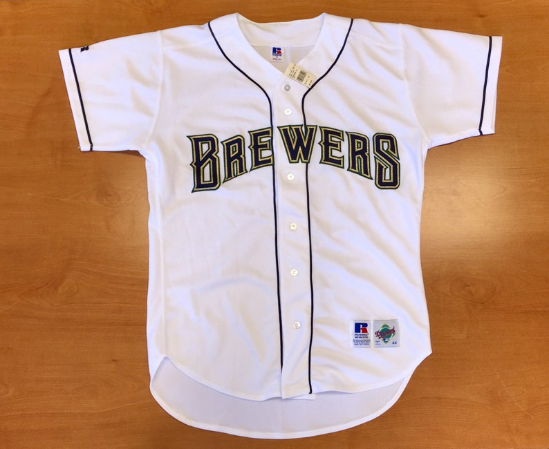 798ba767a Vintage 1994 1996 Milwaukee Brewers Authentic Russell Jersey