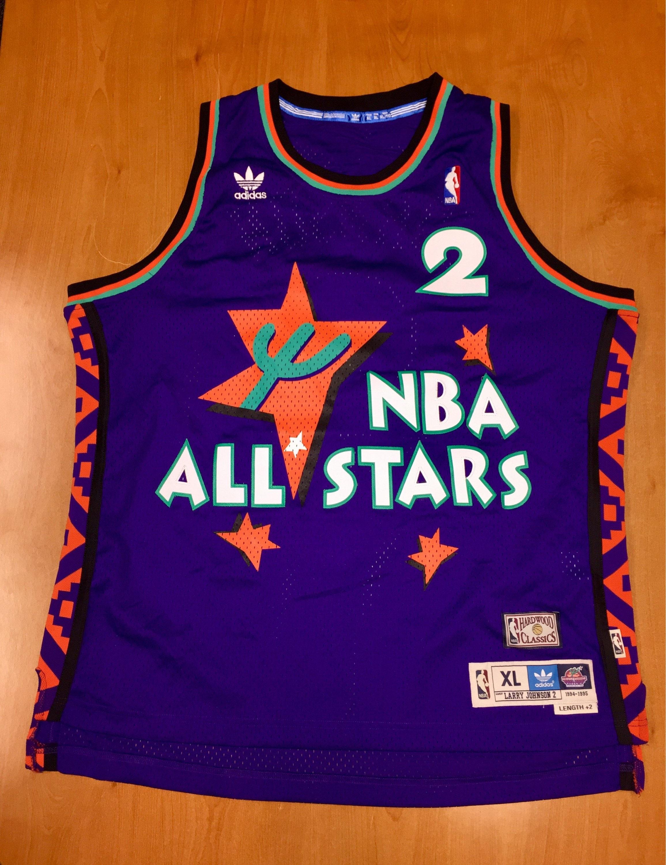 8b154c415de ... spain larry johnson adidas all star jersey jordan shaq hill ewing etsy  8f186 36289