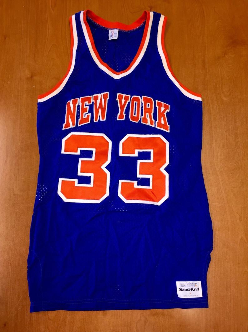 promo code a5347 6fd32 Vintage 1980s Patrick Ewing New York Knicks Sand Knit Jersey Size 38 shirt  charles oakley nba penny hardaway latrell sprewell 36 40 champion