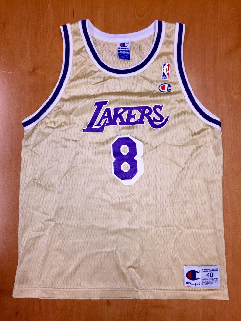 7da7160cf3a Vintage 1998 Kobe Bryant LA Los Angeles Lakers Gold Champion | Etsy