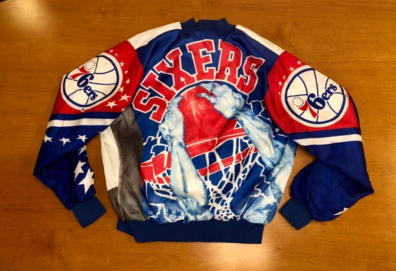 Vintage 1990s Philadelphia 76ers Chalk Line Fanimation Jacket  757b1d42d