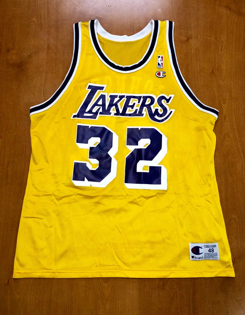 63fff5c9312 Vintage 1996 Magic Johnson Los Angeles Lakers Champion Jersey | Etsy