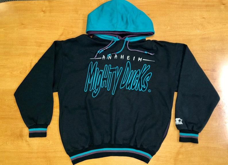 0a4d5aab9 Vintage 90s Mighty Ducks Starter Sweatshirt hoodie kariya | Etsy